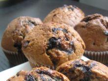 Muffinki jagodowe z nutellą