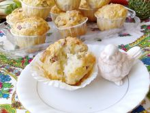 Muffinki kokosowo-rabarbarowe na kefirze