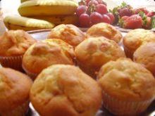 Muffinki truskawkowo-bananowe.