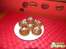 Muffinki waniliowe z dżemem jabłkowym.