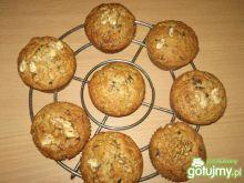 Muffinki z bananami i orzechami