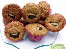 Muffinki z bananem i czekoladą