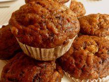 Muffinki z cappucino, bananami i czekoladą