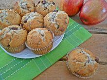 Muffinki z czekoladą i jabłkami