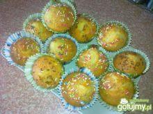 Muffinki z czekoladą mleczną