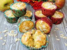 Muffinki z jabłkami i olejem kokosowym