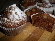 Muffinki z jabłkami i orzechami