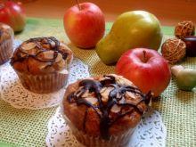 Muffinki z jabłkiem i bananem