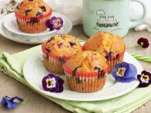 Muffinki z jagodami, czekoladą i kokosem