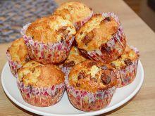 Muffinki z mleczną czekoladą i migdałami