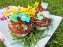 Muffinki z niebieskim kremem