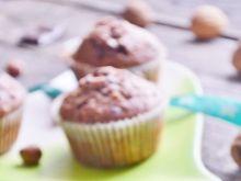 Muffinki z orzechami i czekoladą