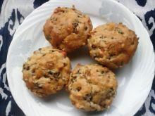 Muffinki z pieczarkami i czerwoną papryką