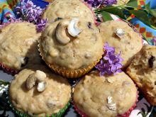 Muffinki z płatkami, syropem z agawy i bakaliami