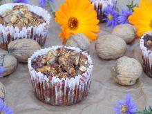 Muffinki z płatków owsianych z orzechami i bananem