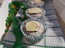 Muffinki z powidłami i plasterkiem jabłka