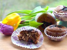 Muffinki z powidłami śliwkowymi i czekoladą