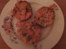 Muffinki z serem gorgonzola i szynką