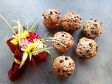 Muffinki z żurawiną, chia i jabłkiem