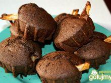 Muffiny czekoladowo - gruszkowe.