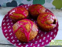 Muffiny migdałowo- truskawkowe
