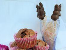 Muffiny piernikowe z kawałkami czekolady