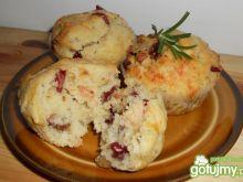 Muffiny rozmarynowe z żurawiną
