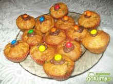 Muffiny z czekoladowymi cukierkami