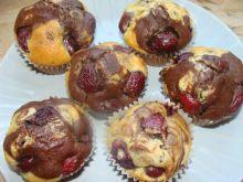 Muffiny z czereśniami