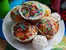 Muffiny z jabłkiem i posypką