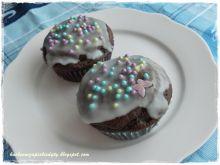 Muffiny z kremowym orzechowym nadzieniem