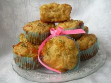 Muffiny z porem i mozzarellą