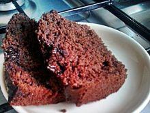 Murzynek z polewą czekoladową