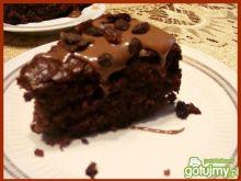 Murzynek z sosem czekoladowym
