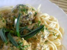 Musztardowe klopsiki ze spaghetti