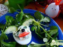 Nadziewane jajka króliczki -na Wielkanoc