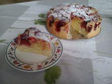 Najprostsze ciasto ucierane z truskawkami
