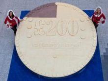 Największa moneta z czekolady