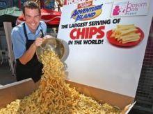 Największa porcja frytek