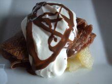 Naleśniki czekoladowe z ananasem