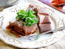 Naleśniki czekoladowo- miętowe z serem