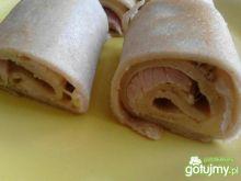 Naleśniki gryczane z serem i szynką