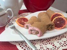 Naleśniki kawowe z serem i czerwoną pomarańczą