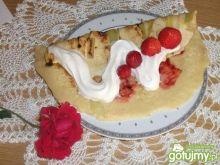 Naleśniki rabarbarowo-truskawkowe