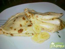 Nalesniki z bananami i serkiem waniliowy