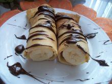 Naleśniki z bananem i czekoladą