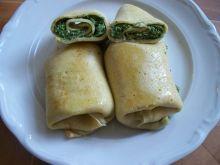 Naleśniki z białym serem i szpinakiem
