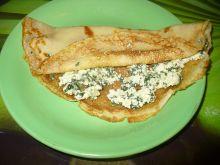 Naleśniki z białym serem ze szpinakiem