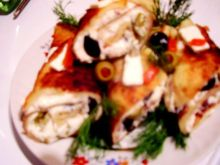 Naleśniki z fetą i oliwkami