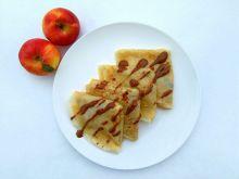 Naleśniki z jabłkami i czekoladą